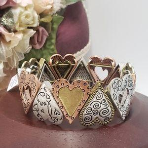 Unique Lia Sophia Heart Stretch Bracelet